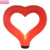 Wedding/Valentine's decoration large led inflatable red heart tubes inflatable heart pillar decorative column with led light