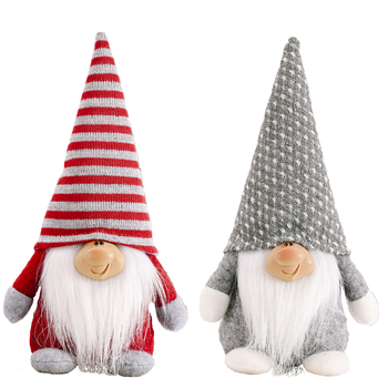 New Arrived Products Handmade Red Gray Green Gnomes Faceless Plush Christmas Decoration Doll