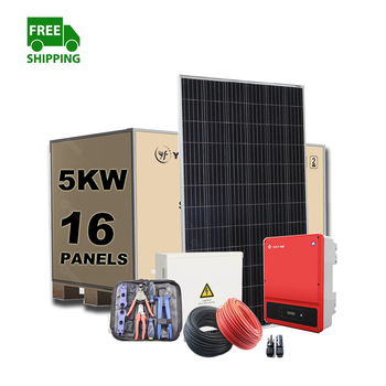 2020 Cheap Price Free Shipping Home Power On Grid Solar System, 1KW 3KW 4KW 5KW 6KW 8KW 10KW 15KW Ongrid Solar System On Grid