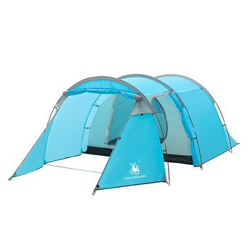 Hot sales wholesale 3-4 person tunnel outdoor camping tent for family