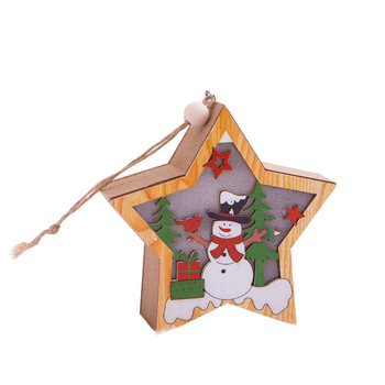2020 new products led Wooden decorations Christmas tree hanger ornaments glow in the dark table decoration