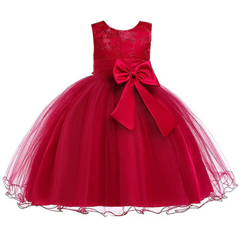 Wholesale New Model OEM Kids Princess Party Girls Dress Lace Embroidery Summer Frock Designs Girls Dresses