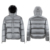 ALIKE Men Winter Fashion Shiny Puffer Casual Keep Warm Waterproof Padding Jacket With Hooded