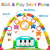 Baby Activity Gym Rack Piano Fitness Playmat with 5 Activity Sensory Toys Newborn Baby Activity Center for Girl and Boy