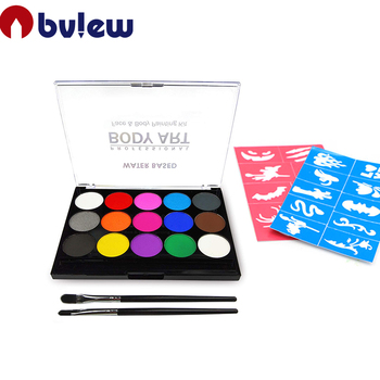 Hypoallergenic Safe Non-Toxic Water Based Face Body Paint Kit For Halloween Party Face Painting