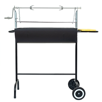 Adjustable Easy Clean Outdoor Babecue Trolley Rotate BBQ Charcoal grill with skewer