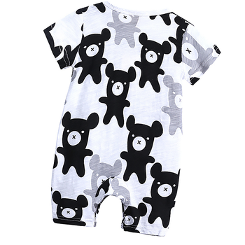 High quality summer soft cloth so cute and comfortable tiny bear baby rompers