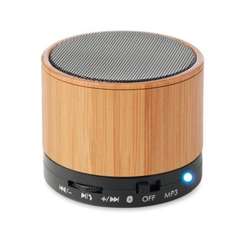 Hot sale Natural wireless bamboo wooden mini rechargeable stereo speak Portable Wireless outdoor speaker
