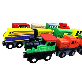Wooden Thomas Train Toys Set 12 PCS Wood Train Toys Magnetic Set For Kids Toddler Boys and Girls