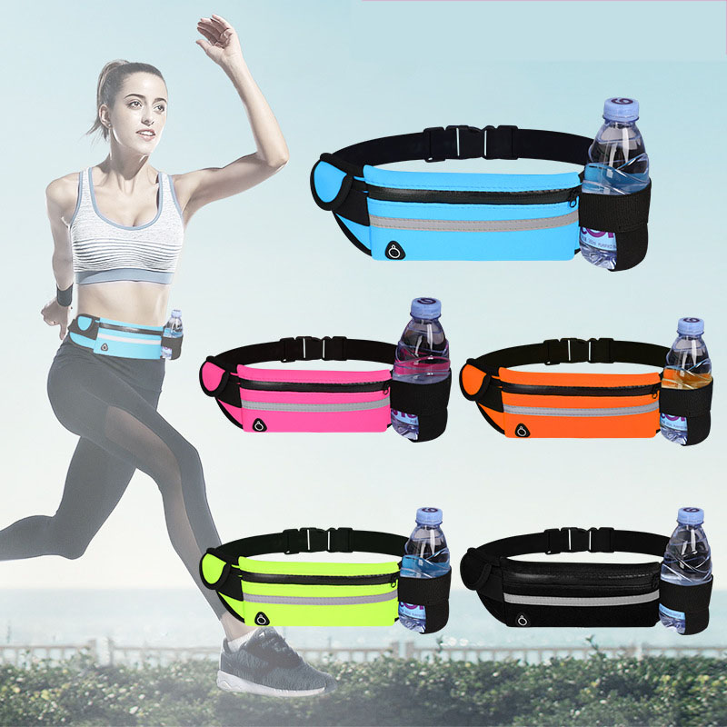 Belt bag waist bag,Fashion casual Ladies Sports Outdoor Hiking reflective Lightweight Adjustable Gym fanny pack Waist bag for Purse,Custom Logo Fashion Waterproof Sport Cycling Running Hydration Waist Belt Bag Pack with Water Bottle Holder
