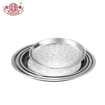 Metal restaurant home hotel use 410 stainless steel dinner plates food dishes