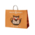 Custom logo take away carry out bag for restaurant sushi food kraft paper bag with handle