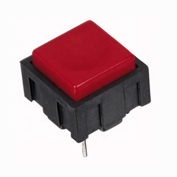 2 pin spst micro push button tact switch 50mA 30VDC momentary self-locking square actuator push button switch