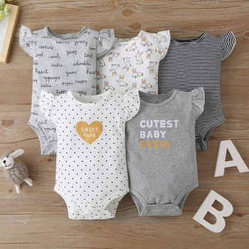 Dongguan manufacturer organic baby clothing Camisole baby clothes plain new born baby girl cloth