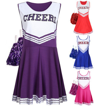 Women's School Girls Musical Party Fancy Dress Uniform Outfit Halloween Cheerleader Costume