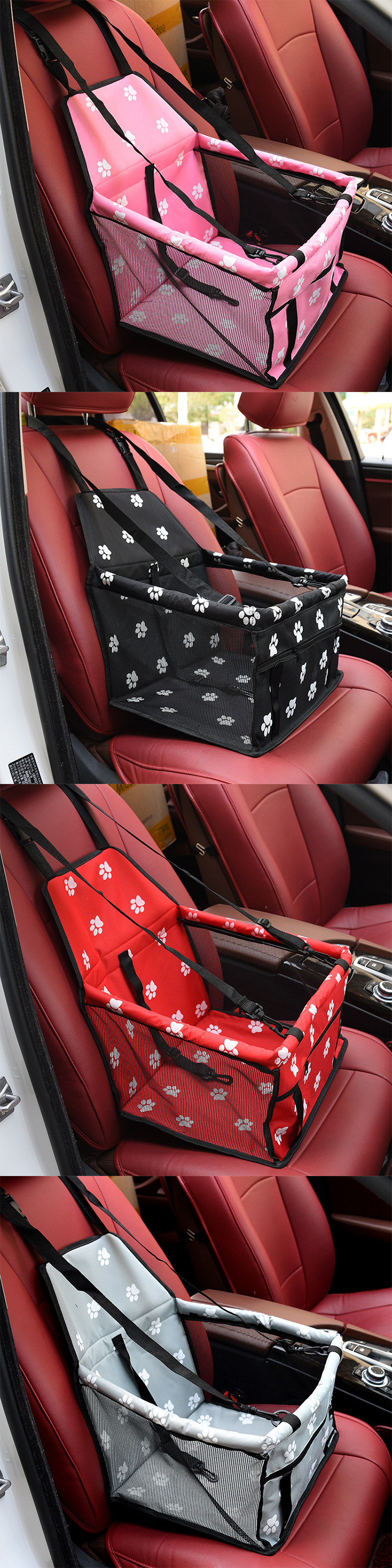Professional Auto Car Vehicle Cat Dog Seat Cover Mats Portable Bear Paw Pet Mat