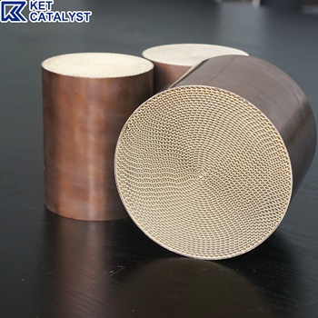 KET High flow metal substrate catalyst 3 way catalytic converter with Pt Pd Rh coating