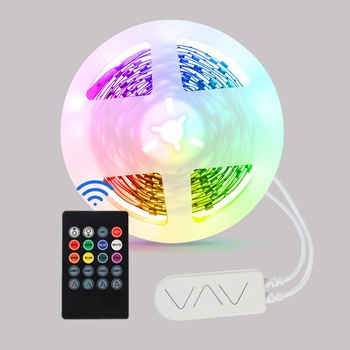 Indoor 12v Led Tape Strip back light BLE Remote Control Kit RGB Led Strip Set with Battery