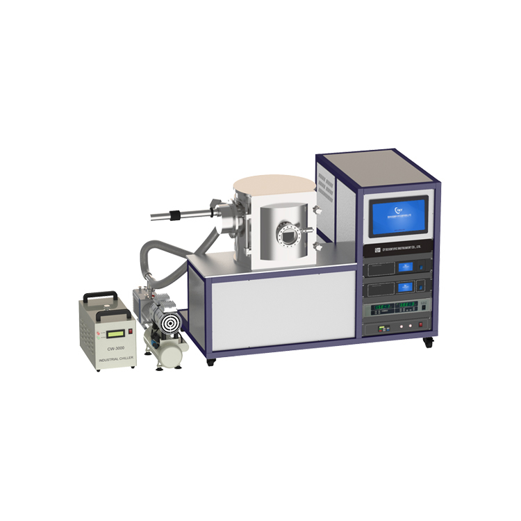 Lab Touch screen vacuum evaporating rotary sample holder coating system with rotary vane pump