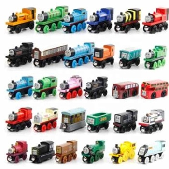 Children's educational toys Magnetic wooden railcar combination Thomas car toy for children Mini wooden train toy