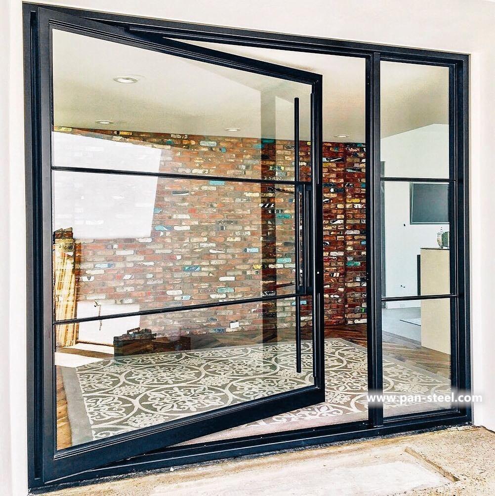 Modern Carbon Steel Windows And Doors House Interior Corten Steel ...