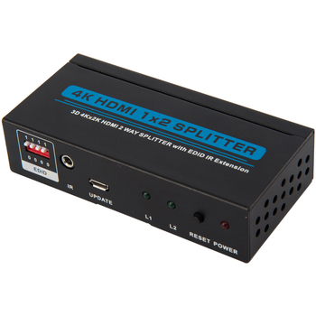 1080P FULL HD Amplifier 1 in 2 Out HDMI Splitter with IR for HDTV DVD STB 3D
