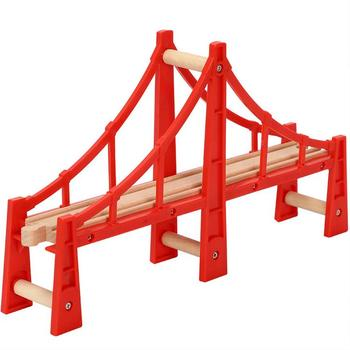 High Quality Wooden Train Track Bridge Fun Early Educational Toy for Kids Multiple track Fit for Thomas Piece
