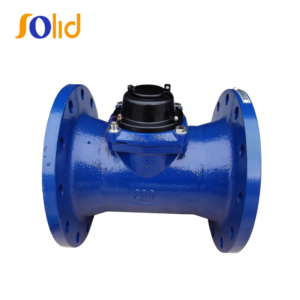 Removable Element Dry Dial Double Flange end Irrigation Woltman Type Bulk Water Meter