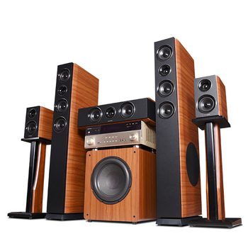 Vofull wooden 5.1 Channel tower 3D surround sound atmos home theatre system