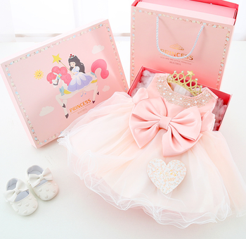 2020 new trends baby girl princess gift box set summer cotton new born bay clothes