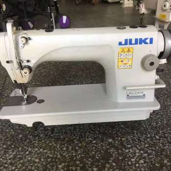 HEAVY DUTY TOP AND BOTTOM FEED WALKING FOOT USED JAPAN LOCKSTITCH SEWING MACHINE 1181N