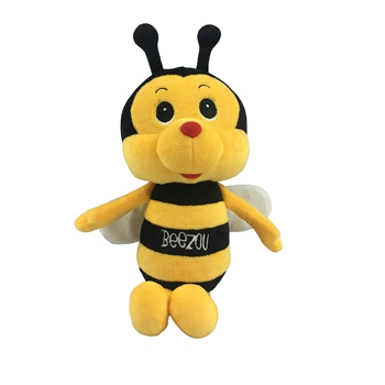 Wholesale custom cute plush honey bee soft stuffed animals yellow bee toys