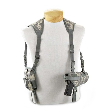 Outdoor Gun Bag Tactical_holster Universal Concealed Shoulder Pistol Gun Case Holster with 2 magazine Pouch