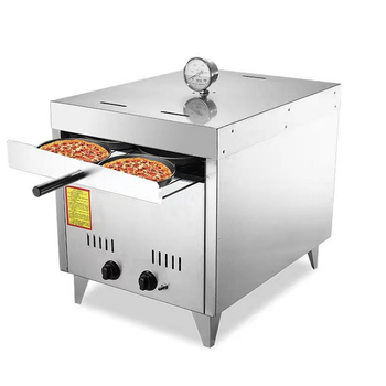 Commercial stainless steel outdoor smokeless gas pizza oven for sale