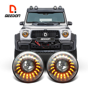 Auto Lighting System IP67 Turn Signal projector headlights for cars Truck Offroad Car led headlight 7 inch for jeep
