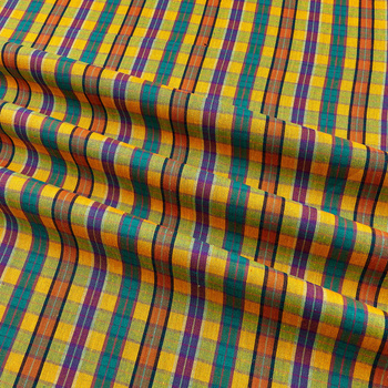 Yarn dyed 100% Cotton Blended yarn dyed plaid fabricfor Garment