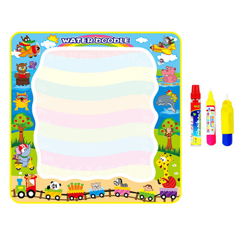 Water Writing Mat Water Doodle Water Painting Board Magic Drawing Board DIY Toys for Kids 100X100cm