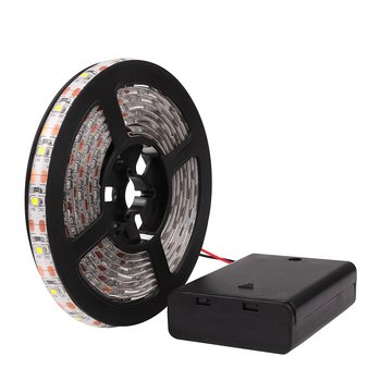 Hot Selling DC5V SMD 2835 3528 1m 2m Single Color Warm White LED Strip with Battery Box