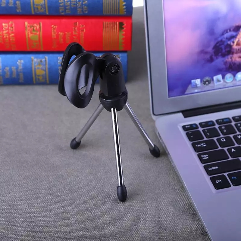 Mini Portable Table Tops Microphone Tripod Alloy Mic Stand Bracket Desktop Adjustable Microphones Tripods Holder