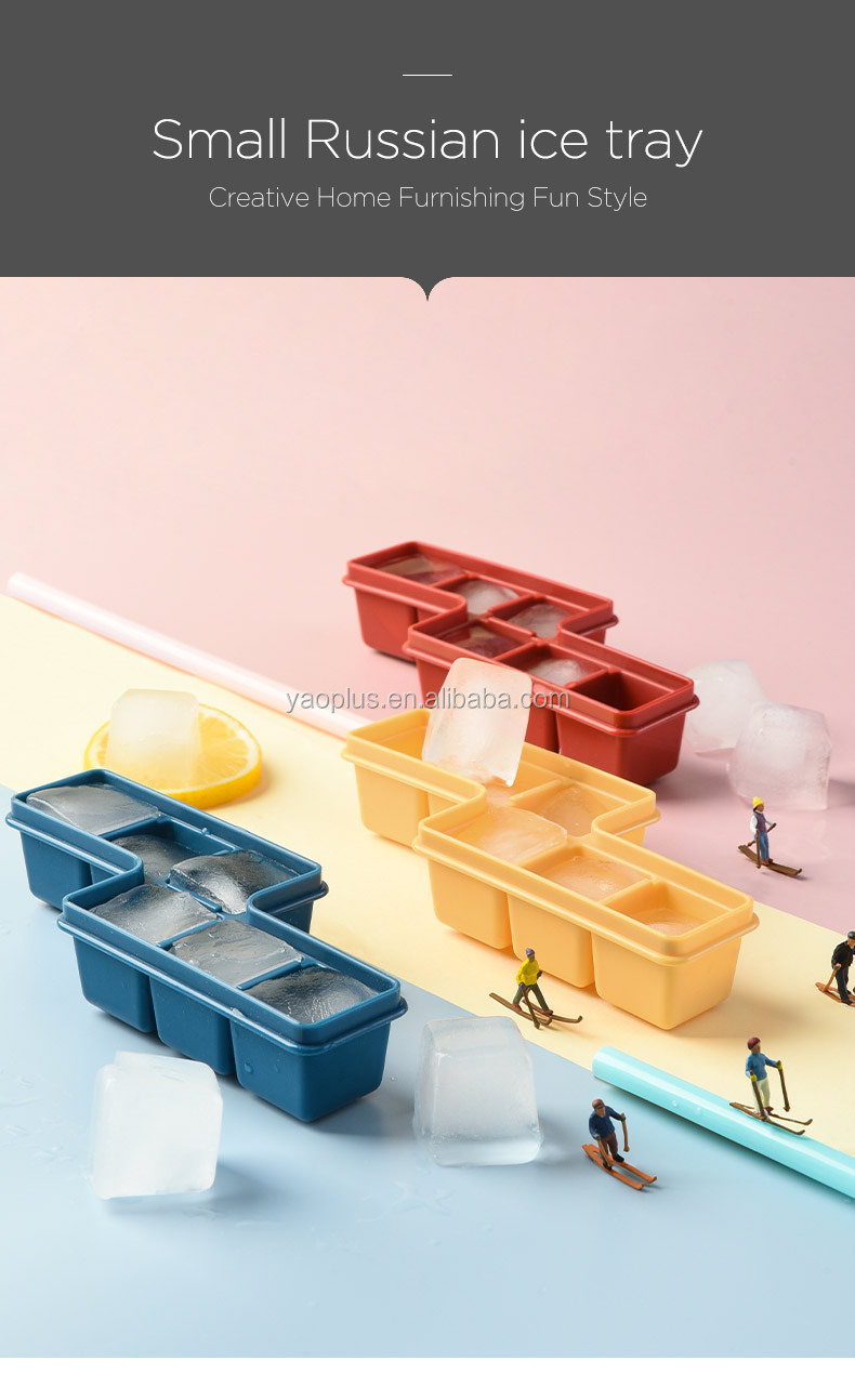 Small Ice cube storage and ice box container ice cuber maker