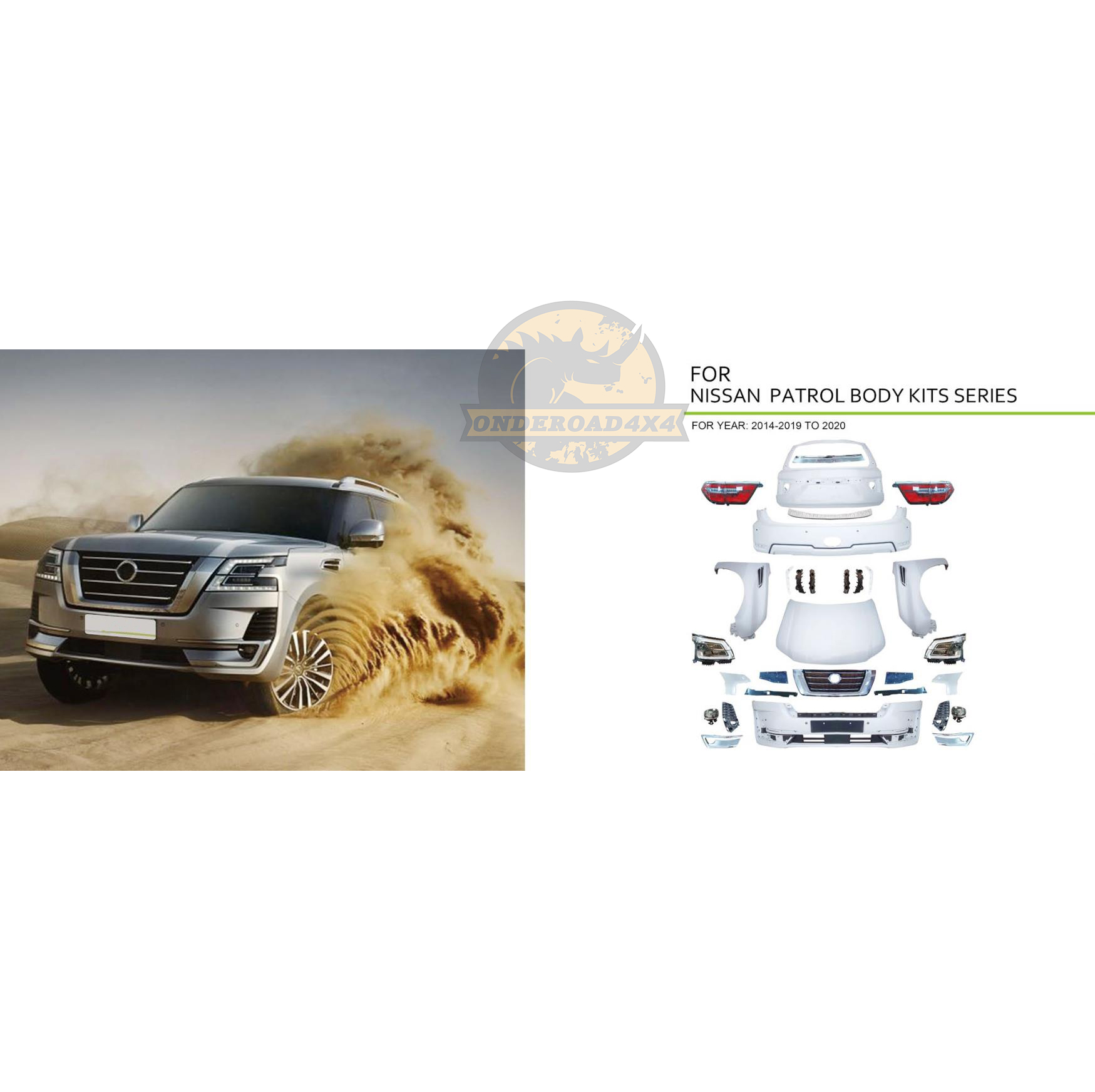 Hot Sale For Nissan Patrol Y62 2014 2019 Upgrade To 2020 Year Auto Body Kit For Car Bumpers And Lamp View Old Model Upgrade The New Model Body Kits Onderoad4x4 Product Details From