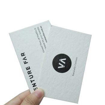 Special design duplex white and black cotton paper luxury business cards with embossed logo