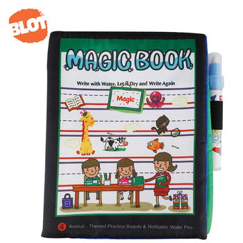 BLOT 6609 Reusable Learning Kids Magic Water Coloring Drawing Book Painting Doodle Mat