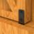 Mini Sliding Barn Door Hardware Kit for Double Opening Cabinet TV Stand