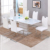 Modern luxury dining tables set glass dining room furniture  extendable dining table set