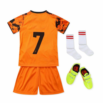 Wholesale Italian children's football suit customized men's jerseys for primary school students' summer football training