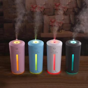 Car Humidifier USB Aroma Diffuser with 7 Color Changing LED Lights for Office Home Ultrasonic Air Humidifier