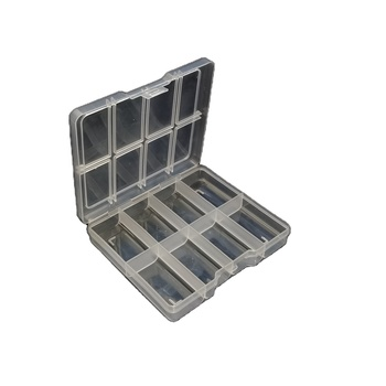 Small 8 Grids Compartments Clear Plastic Box