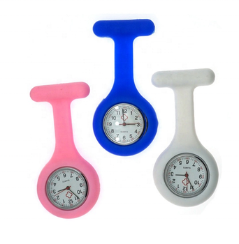Wholesale Sedex factory silicone nurse watch brooch breast watch with Mechanical watch