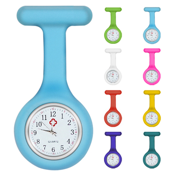 Wholesale Custom Logo Silicone Good price Brooch Fob Colorful Portable Waterproof Quartz Pocket Nurse Watch
